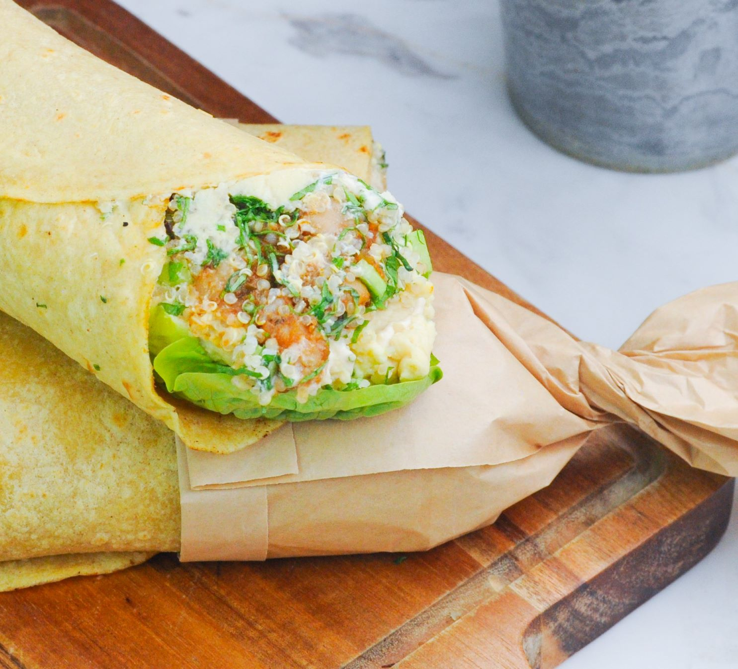 Spiced Chickpea Wrap