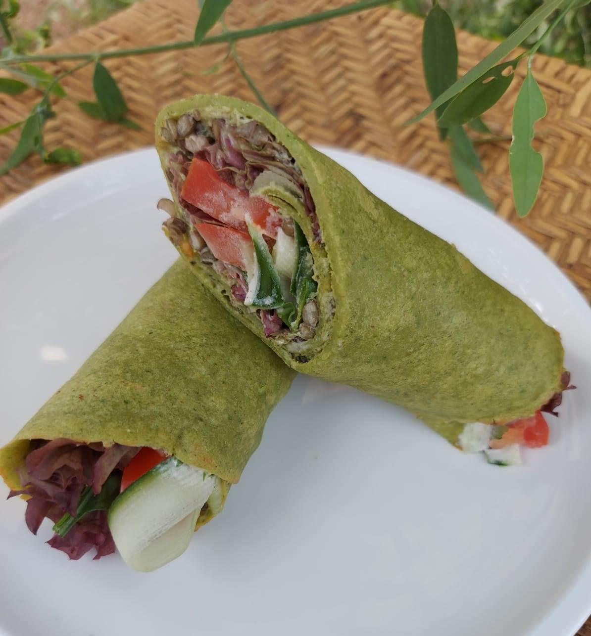 Spinach Lentil Wrap